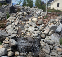 babbling brook water feature