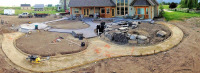 slab for gazebo, water feature, sidewalk prep